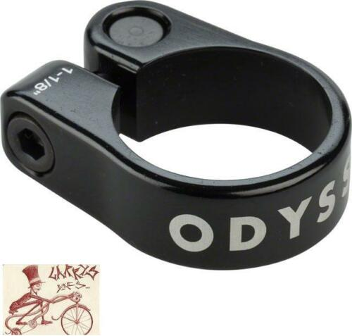 "ODYSSEY SLIM CLAMP 28.6MM--1-1//8/"" BLACK BICYCLE SEAT CLAMP"