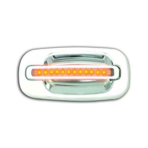 IPCW CLY99C18R Chrome with Amber LED and Clear Lens Rear Door Handle Pair