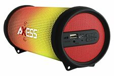 NEW Axess Vibrant Mini SPBL1043 HIFI Bluetooth Speaker w/Disco LED Lights RED
