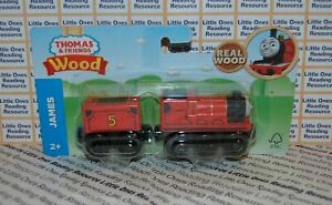 Thomas-Friends-Wood-Wooden-JAMES-Train-FULLY-PAINTED-Fisher-Price-GGG62-2019