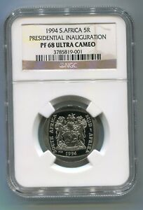 South-Africa-Mandela-Inauguration-1994-5R-Coin-Proof-68-NGC-PF68-Ultra-Cameo