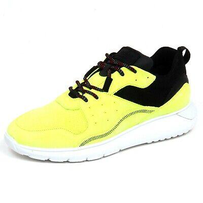 F6778 sneaker uomo yellow fluo/nero HOGAN INTERACTIVE 3 suede ...