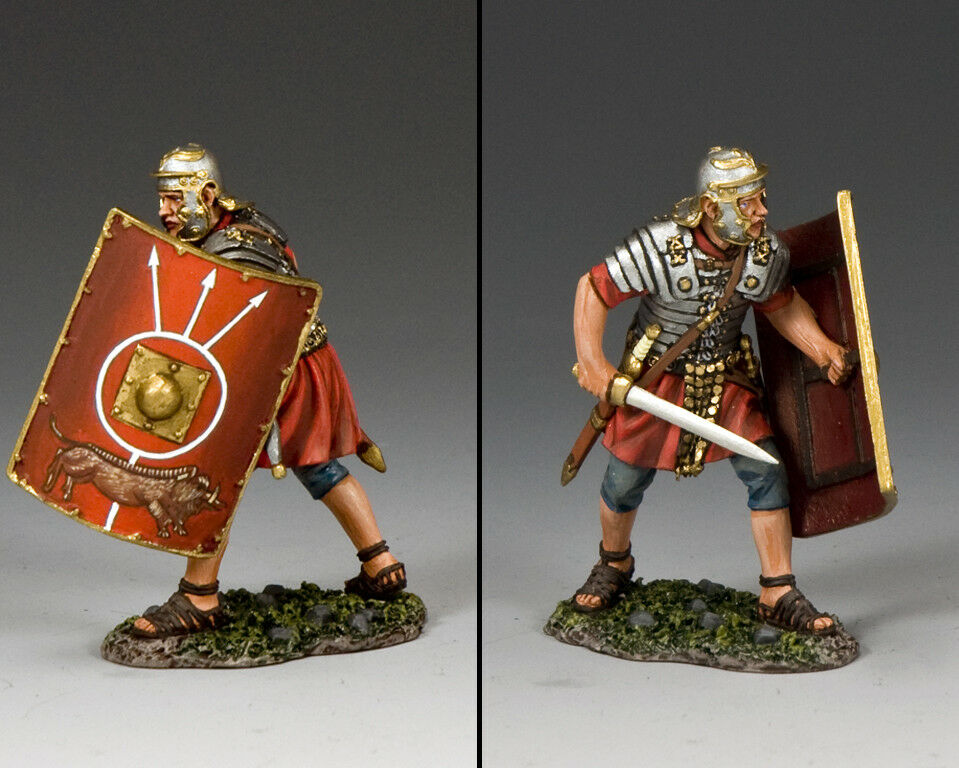KING AND COUNTRY Romans Romans - Fighting with Sword (Thrusting) ROM017 Painted Metal