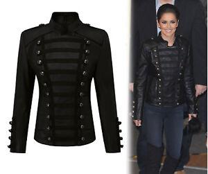 Women-039-s-Napoleon-militaire-veste-cuir-Cheryl-Cole-Slim-sapin-unique-fashion-Jac
