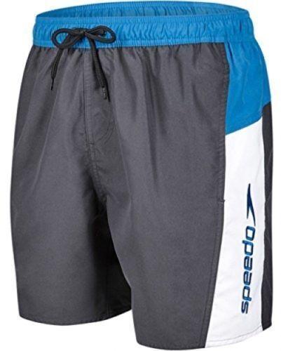 Da Uomo Speedo giunzione Swim Pantaloncini Nero Bianco taglia L Girovita Quick Dry Nuovo £ 12.99