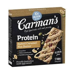 Carman's Salted Caramel Nut Butter Gourmet Protein Bars 5 pack 200 gram