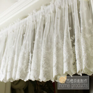 Strange Details About French Country Princess Kitchen Cafe Curtain Tier Valance Ivory Net Lace Tulle Home Interior And Landscaping Palasignezvosmurscom