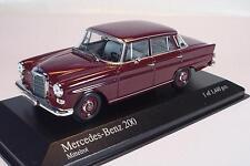 Minichamps 1/43 Mercedes Benz 200 (1965) dunkelrot OVP #1676