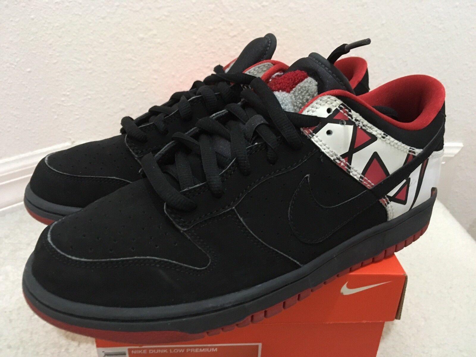 Nike Dunk Low Premium Jordan VIII 8 Black/Black-Anthracite Sz 9.5 307696-002