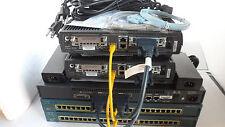 Cisco CCENT CCNA Home Practice Lab Kit 1 x 2501 2 x 1720 2950-24 ICND1&2 CCNA4