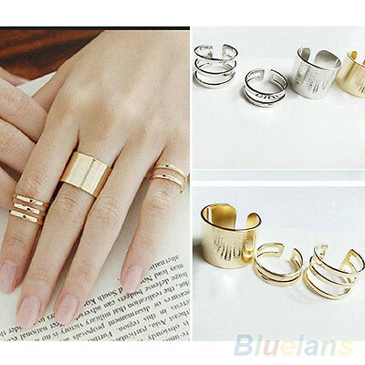 Hot Sale 3Pcs Top Of Finger Over The Midi Tip Finger Above The Knuckle Open Ring