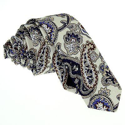 Necktie Set Handkerchief Bowtie Men's Skinny Tie Paisley Wedding Party ZBJ004