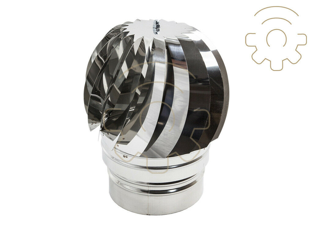 Fumaiolo girevole acciaio inox attacco tondo Ø 22 cm comignolo camino