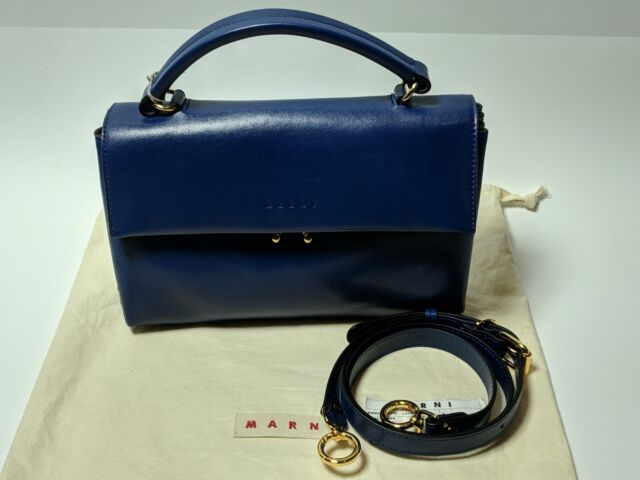 637ee46234 RARE Marni Handbag Bag Medium With Shoulder Strap in Cornflower for ...