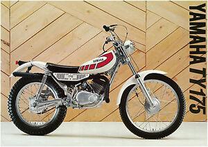yamaha brochure ty175 ty175e 1978 1979 1980 classic trials sales rh ebay com Yamaha 1986 RM125 Yamaha CT1