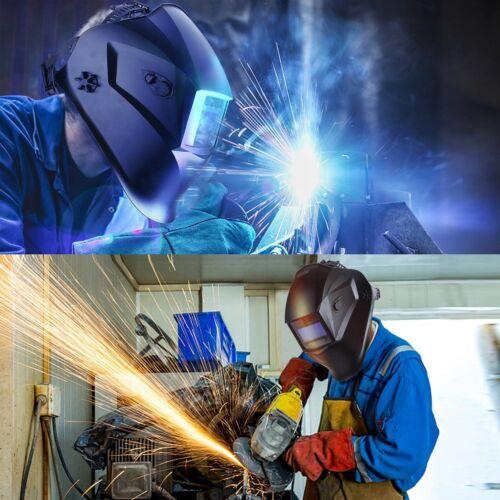 RedBLK700 Auto Darkening Welding//Grinding Helmet Mask Hood w// 4 optical sensors