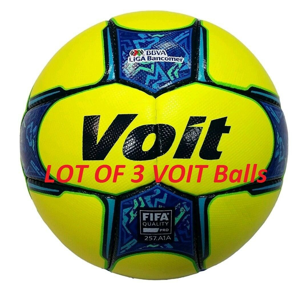 LOT OF 3 Voit Clausura 2017 New Official Match Balls Größe 5
