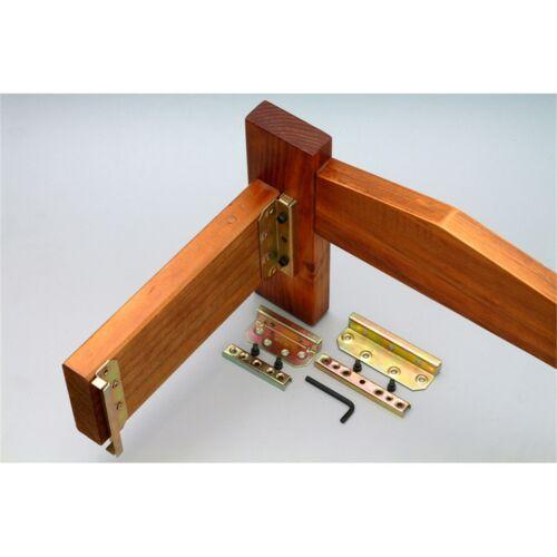 Easy Install GOLD Kia Ora MAXILOCK BED BRACKET 120x40mm Sturdy /& Secure Frame