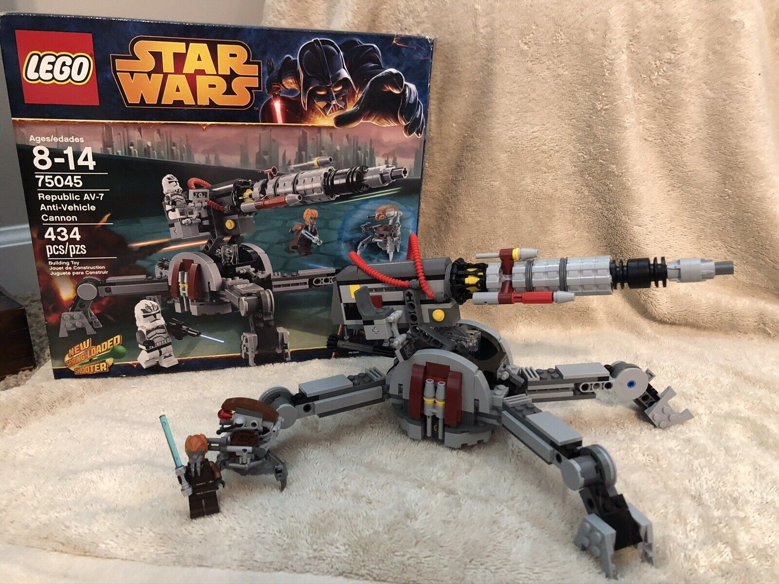 Av-7 anti-vehicle Cannon ™ Star Wars ™ set 75045//Wolf Pack Clone Trooper!