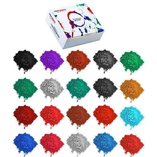 Mica Powder Color Pigment Dye – (Pack of 24) 5 gram Resealable Pigment Powder Ba