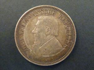 1896 L'afrique Du Sud Deux Et Six Demi-couronne Pièce-afficher Le Titre D'origine