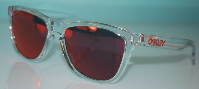 Oakley Frogskins Crystal Collection Sunglasses OO9013-A5 Polished Clear/Torch