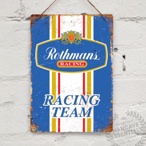 ROTHMANS RACING Replica Vintage Metal Wall Sign Plaque Retro Garage Shed Car