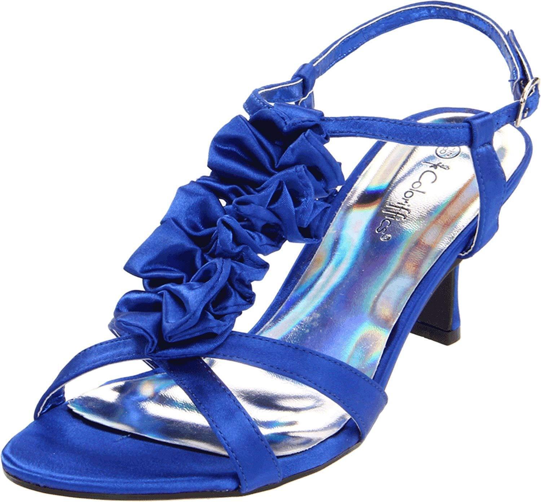 Coloriffics para mujer Giselle Sandalias, Azul Real Real Real con volantes, Talla 6  muchas concesiones