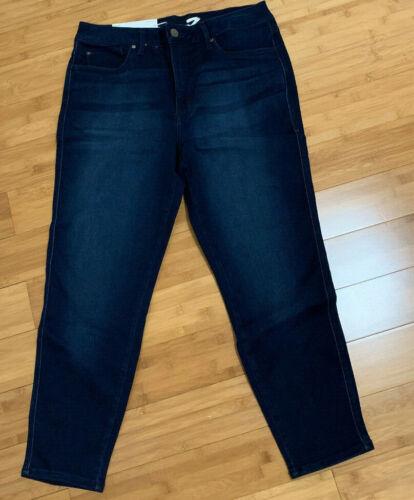 New Womens Seven7 Skinny Leg Ankle Crop Jeans High Rise Denim 4 6 8 10 12 14 16