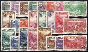 ANDORRE-STAMP-TIMBRE-N-24-45-034-SERIE-PAYSAGES-034-NEUFS-xx-TTB-VALEUR-925
