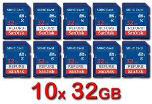 LOT-10x-SanDisk-SD-32GB-Class-4-SDHC-Card-SDSDB-032G-B35-memory-card-32-GB-10-x