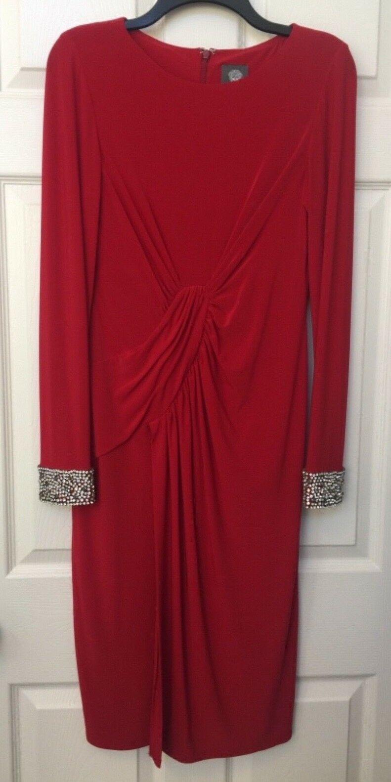 VINCE CAMUTO Womens Embellished Cuff Wrap Dress SZ 6 Pre-owned