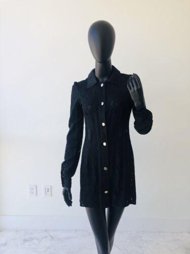 Dolce Gabbana Black Button Down Lace Shirt / Dress