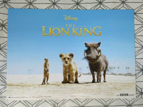 Disney The Lion King ODEON A3 Poster CINEWORLD Collector/'s Ticket 2019 Movie