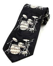 Drum Score Mens Neck Tie Music Necktie Instrument Novelty Musician Gift New