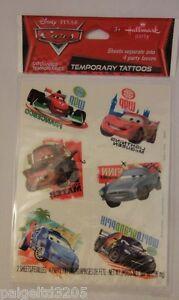 Hallmark-Disney-Pixar-Cars-Temporary-Tattoos-8-Party-Favors-1FVT1078-Asstd