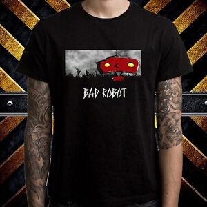 Bad-Robot-Famous-Production-Logo-Men-039-s-Black-T-Shirt-Size-S-to-3XL