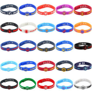 Silicone-Wristband-Rubber-Bracelet-Adjustable-for-nba-Basketball-Sport-Run-Gift