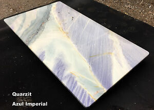 Tischplatte Quarzit blau Arbeitsplatte Abdeckung Kommode Küche ...