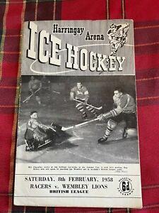 Harringay Arena Ice Hockey Programme 08/02/1958