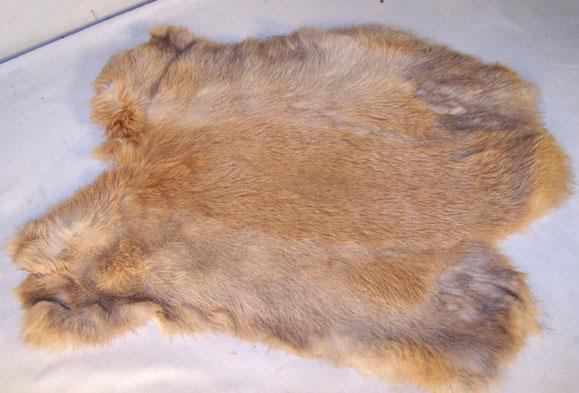 natural brown genuine rabbit skin solf tan hide fur pelt craft skins