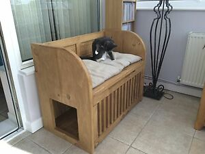 Indoor Cat House/Cat bed/Litter tray storage | eBay