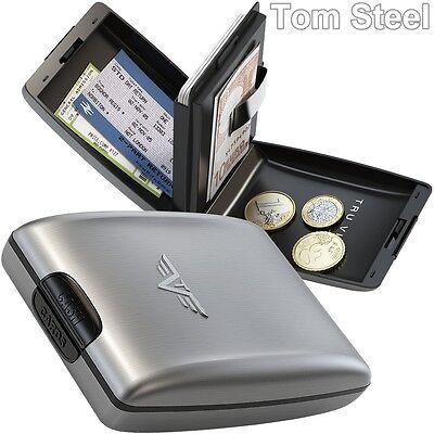 TRU VIRTU Aluminium Geldbörse Geldklammer Portemonnaie Geldbeutel Geldtasche NEU
