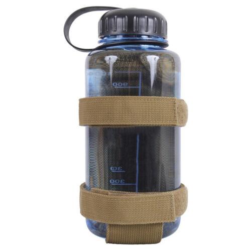 Einfaches Outdoor Wandern Zelten Wasser Flasche Halter Gürtel Gurtband Träger 1x