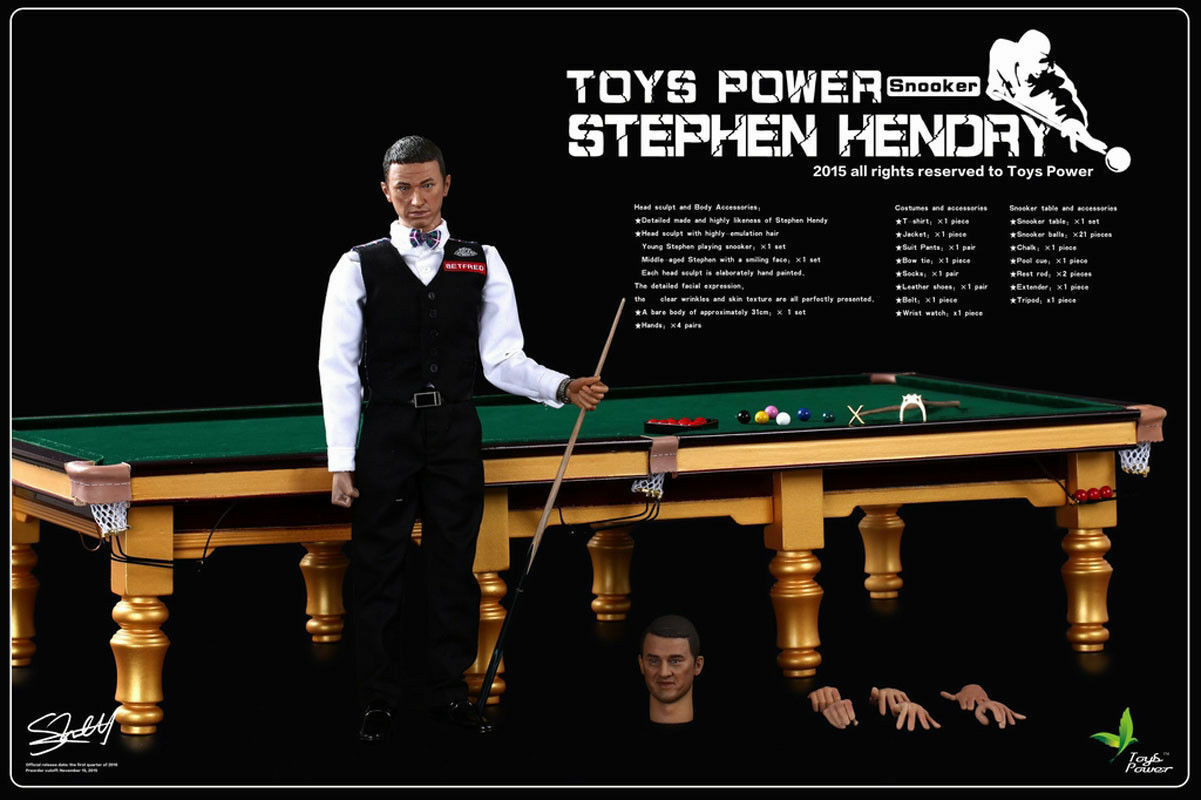 Toys Power CT008 1 6 Scale Snooker Champion Stephen Hendry & Snooker Table Set