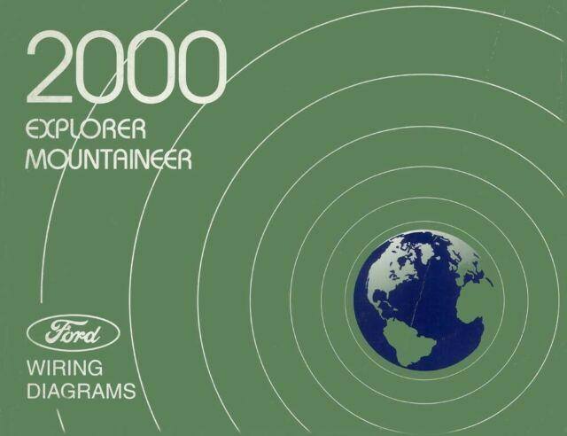 2000 Ford Explorer Mercury Mountaineer Wiring Diagrams Manual Oem