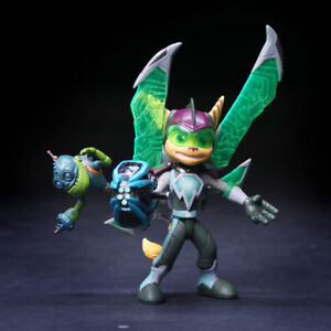 5 Movable Ratchet Clank Armored Ratchet Action Figure Toy Pvc
