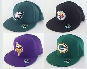 NEW-NFL-Sideline-Flat-Bill-Fitted-Hat-Cap-Reebok-NWT