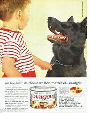 PUBLICITE ADVERTISING 116  1965  Canigou aliment patée pour chien