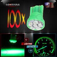 100pcs T10 194 168 2825 6 X 3020 Smd Super Bright Led Light Car Bulb Lamp Green on sale